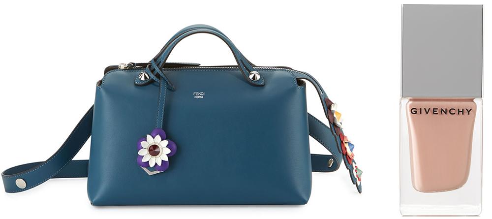Fendi Small By the Way Flower Satchel Bag: $2,250 via Neiman Marcus  Yves Saint Laurent  Jaune Babouche La Laque Couture Nail Polish: $25 via Net-a-Porter