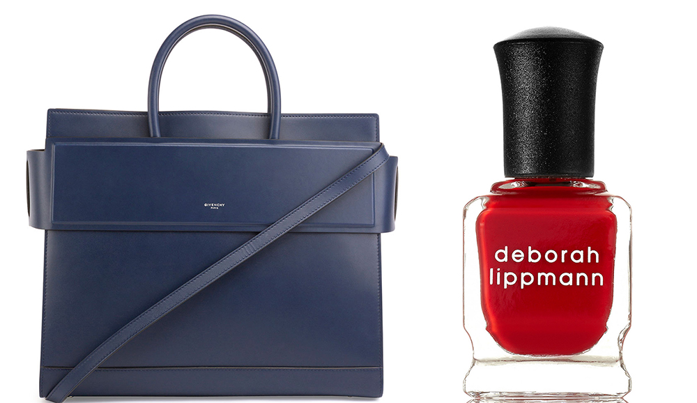 Givenchy Horizon Medium Leather Satchel Bag: $2,690 via Neiman Marcus Deborah Lippmann My Old Flame Nail Polish: $18 via Net-a-Porter