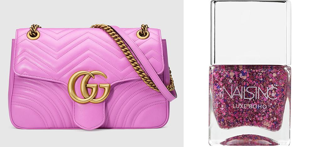 Gucci GG Marmont Matelassé Shoulder Bag: $2,300 via Gucci Nails Inc Notting Hill Lane Luxe Boho Nail Polish: $15 via Net-a-Porter