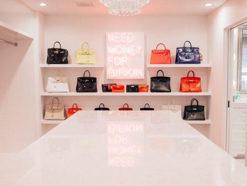 Kris Jenner Hermes Closet