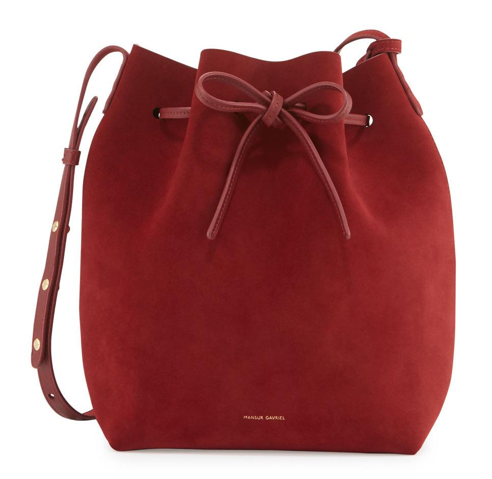 shop mansur gavriel 39 s new bag materials colors and styles. Black Bedroom Furniture Sets. Home Design Ideas