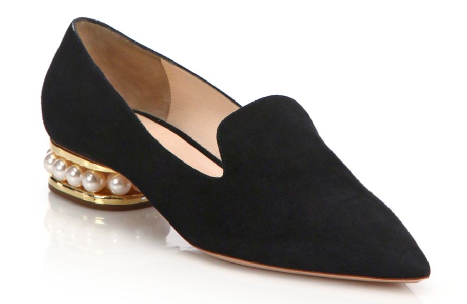 Nicholas Kirkwood Casati Pearly Heel Suede Loafers