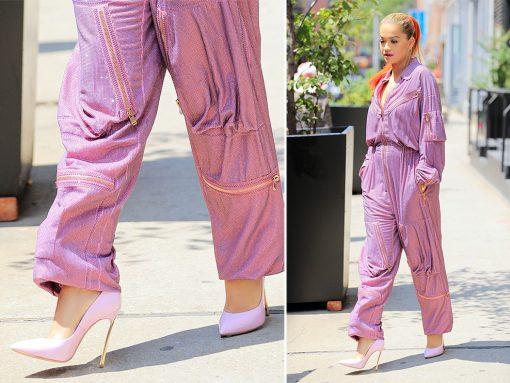 Rita-Ora-Casadei-Blade-Pumps-Pink
