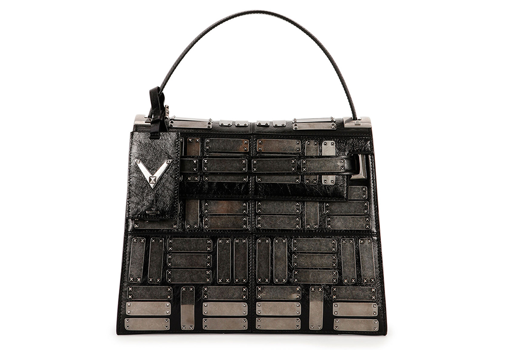Valentino My Rockstud Leather Satchel Bag