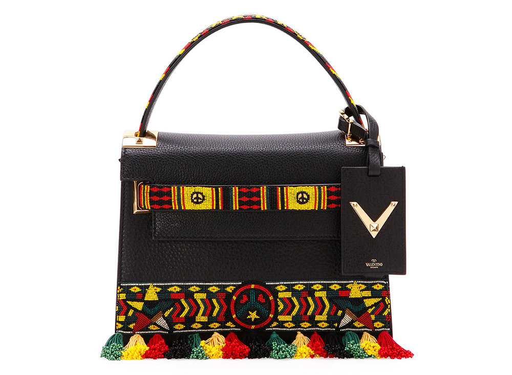 Valentino My Rockstud Small Jamaican Top-Handle Satchel Bag