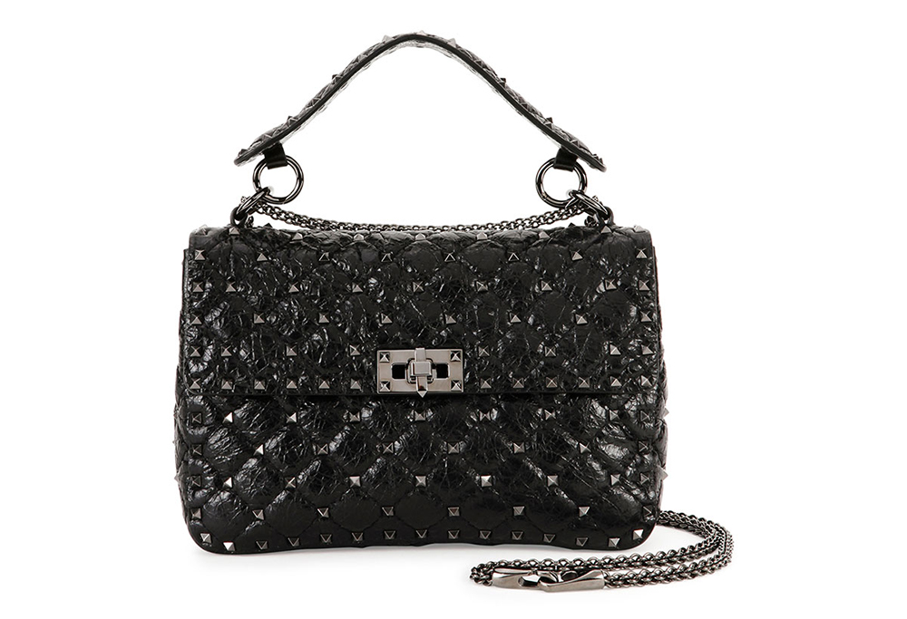 Valentino Rockstud Medium Matelasse Leather Shoulder Bag