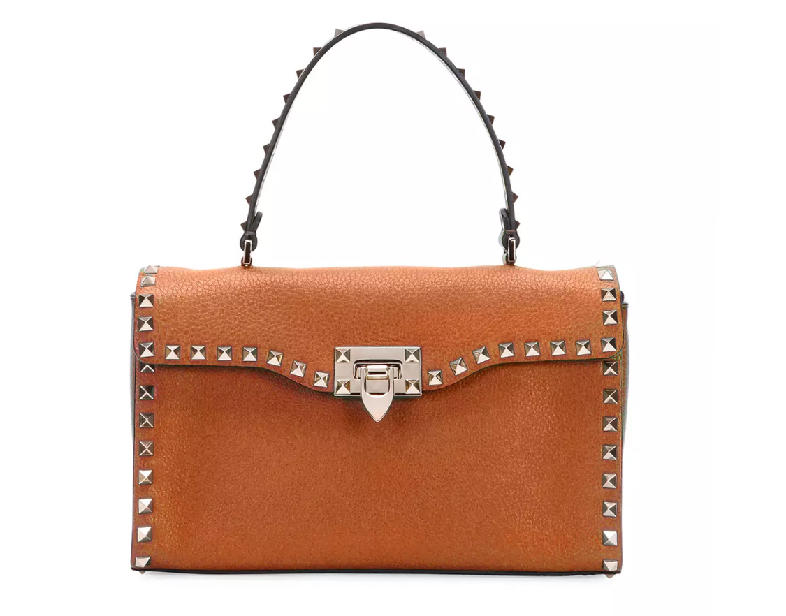 Valentino Rockstud Small Single-Handle Satchel Bag