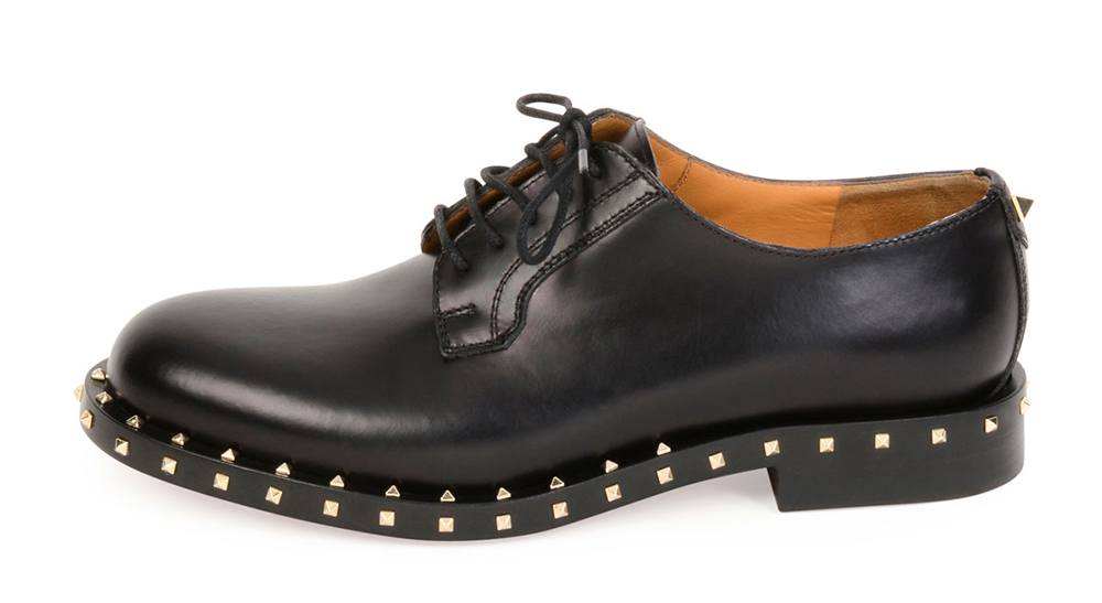 Valentino Soul Stud Leather Derby Oxford