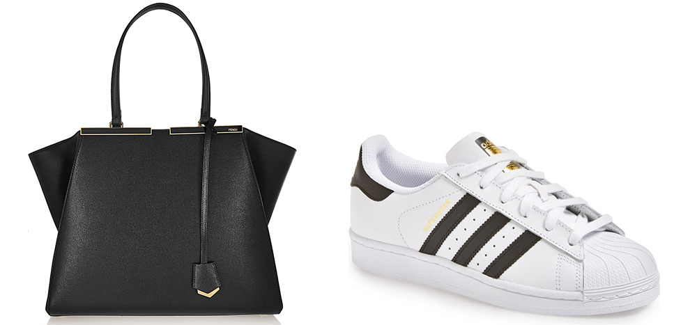 Fendi 3Jours Medium Textured-Leather Tote $2,550 via Net-a-Porter Adidas Superstar Sneaker $80 via Nordstrom