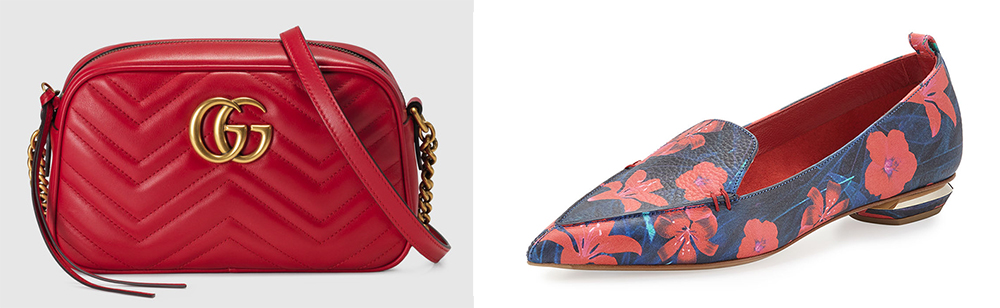 Gucci GG Marmont Matelassé Shoulder Bag $1,200 via Gucci Nicholas Kirkwood Beya Floral Pointed-Toe Loafer $485 via Bergdorf Goodman