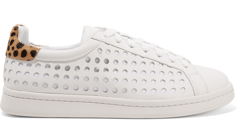 loeffler-randall-zora-perforated-leather-and-canvas-sneakers