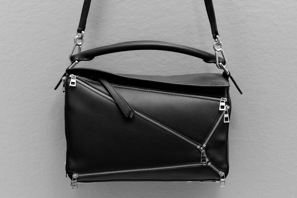 Loewe Puzzle Zips Leather Satchel Bag 1