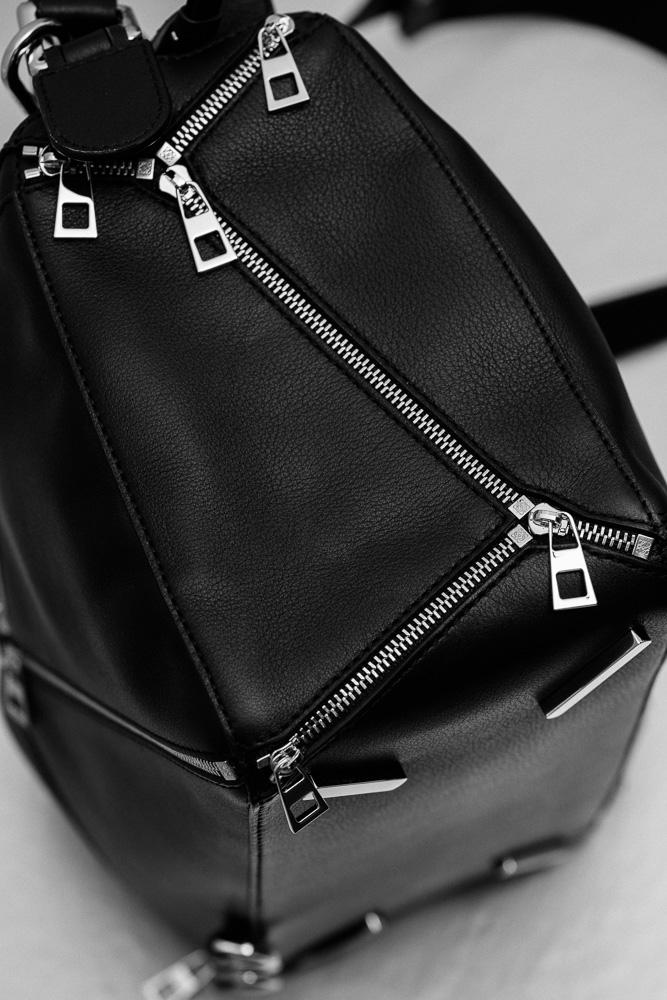 Loewe Puzzle Zips Leather Satchel Bag 3