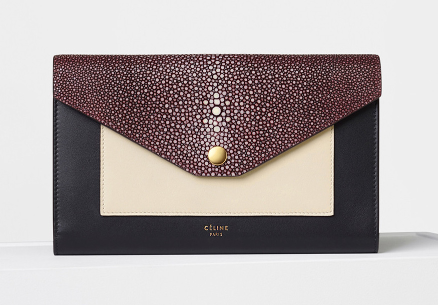celine-pocket-large-flap-on-chain-burgundy-shagreen
