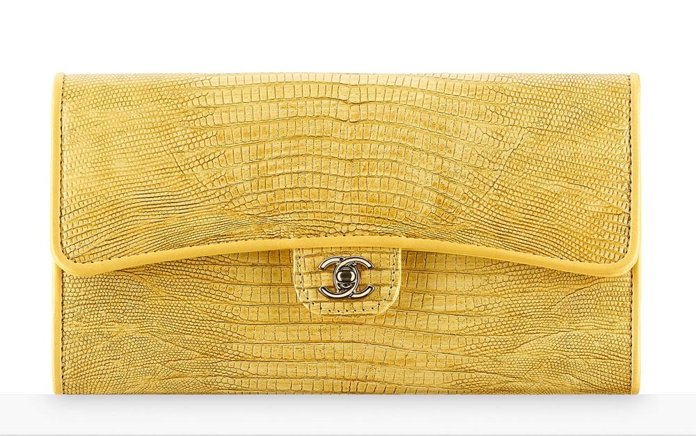 chanel-lizard-flap-wallet-yellow-2450