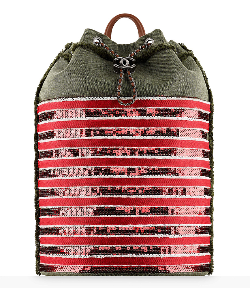 chanel-sequin-backpack-khaki-red-4100