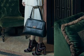 Exclusive Photos Shot for PurseBlog of the Ferragamo Gancio Clip Top Handle Bag