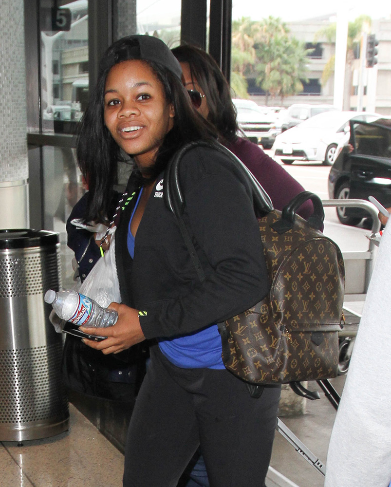 gabby-douglas-louis-vuitton-palm-springs-backpack