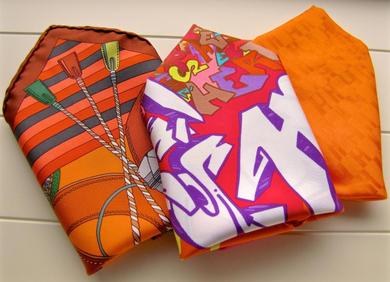 tPF Member: the_black_tie_dryer Pocket Squares: Madame Cuir,  Graffiti, and Grand H