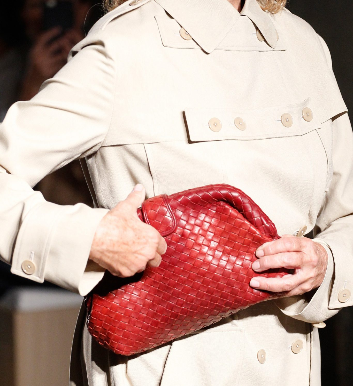 Lauren Hutton Bottega Veneta Lauren Clutch 1