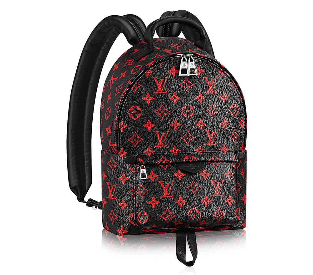louis vuitton backpack red