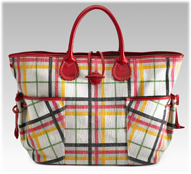 Burberry Plaid Canvas Tote