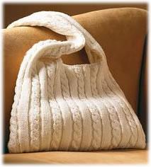 Cable Knit Messenger Bag