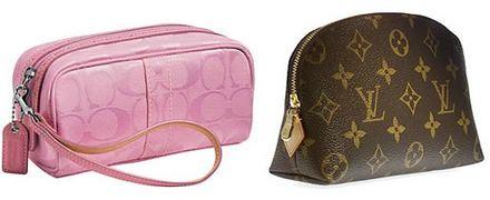 Coach Signature Medium Beauty Case and Louis Vuitton Pochette Cosmétique