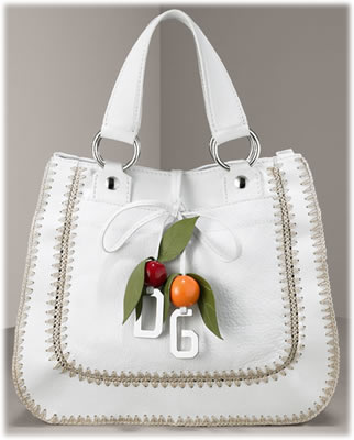 Dolce and Gabbana Leather Charm Bag
