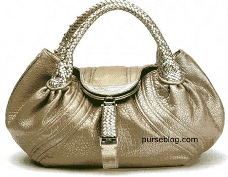 Fendi Spy Bag in Gold and Silver