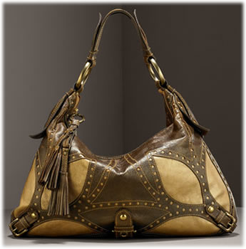 Isabella Fiore Cut Out Leather Hobo