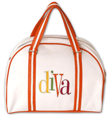 "Jana Feifer JAM Large \""Diva\"" Leather Bowler Bag"