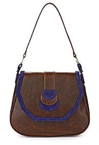 Leslie Newton Royal Suede Saddle Bag