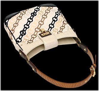 Louis Vuitton Velvet chain-print bag with alligator trim