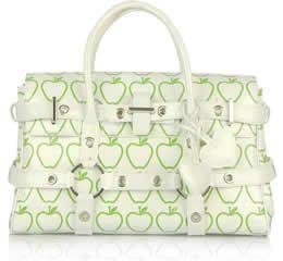 Luella Patent Leather Apple Print Gisele Bag