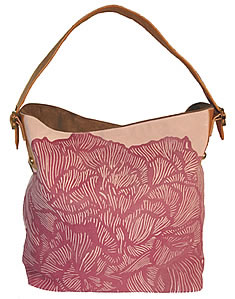 Peony Suede Hobo in Light Pink