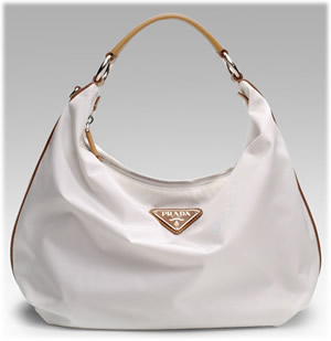 Prada Medium Nylon Hobo Handbag