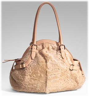 Salvatore Ferragamo Llama Leather Puff Bag