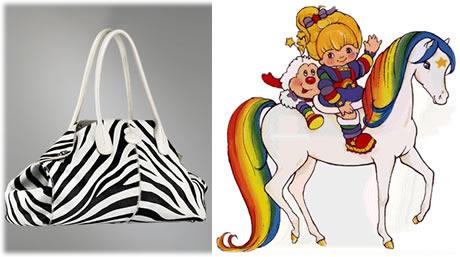 Tods Girelli East West Zebra Print Pony Bag