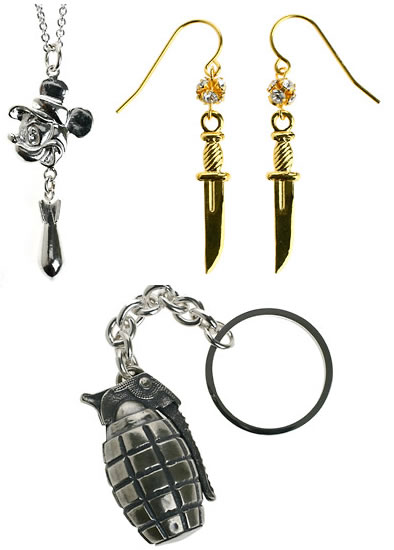 Tom Binns Earrings and Keychain