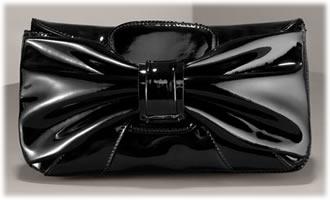 Valentino Patent Bow Clutch