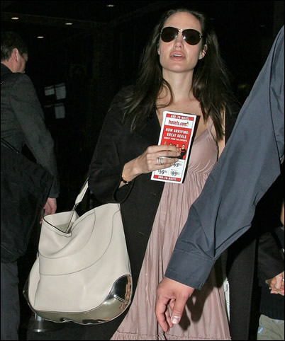 angelina jolie anya hindmarch bag