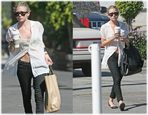 Ashley Olsen YSL Rive Gauche Bag