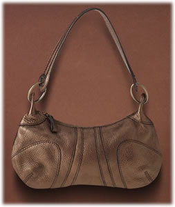 Banana Republic Metallic Seamed Small Shoulder Bag