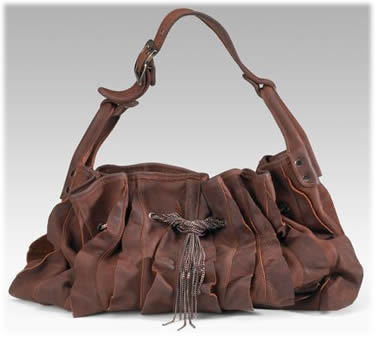 Be & D Ruffled Bag with Chains