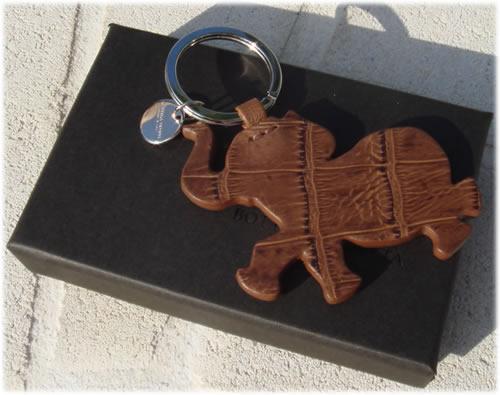 Bottega Veneta Croc Elephant Key Chain