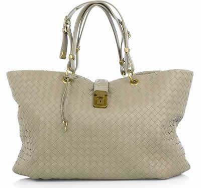 Bottega Veneta Intrecciato Leather Shopper Handbag