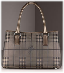 Burberry Shadow Check Tote