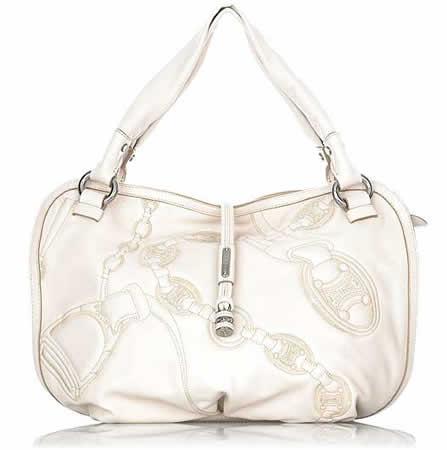Celine Embroidered Leather Bag