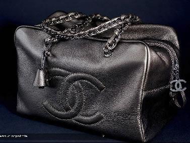 Chanel Metallic Deerskin Zipped Tote Bag
